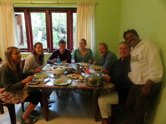 Suresh Green View Homestay: Delicious Kerala breakfast served by Suresh and his wife