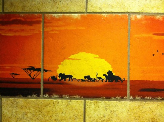 Disney's Animal Kingdom Villas - Kidani Village: Tile work in master bath