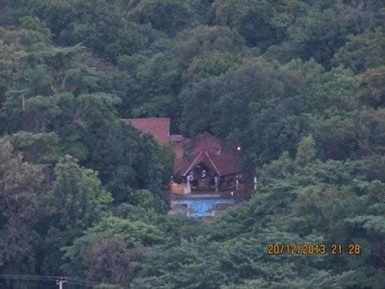 Sigiriya Village Hotel : Hotel pool from atop Sigiriya