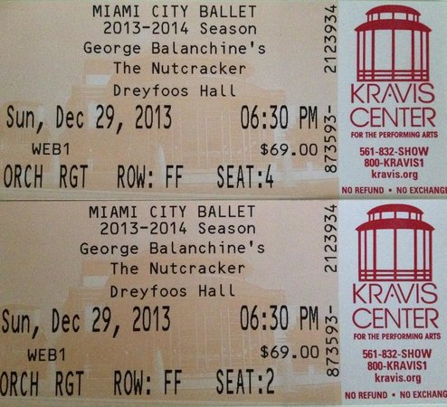 Kravis Center for the Performing Arts: Tickets