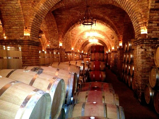 Castello di Amorosa: Barrel Room