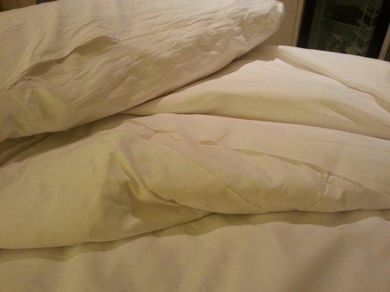 I Galleria Hotel Sukhumvit 13: Torn bedding covers