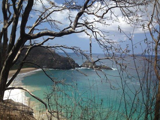 Baia do Sancho : Vista da praia do Sancho do mirante.
