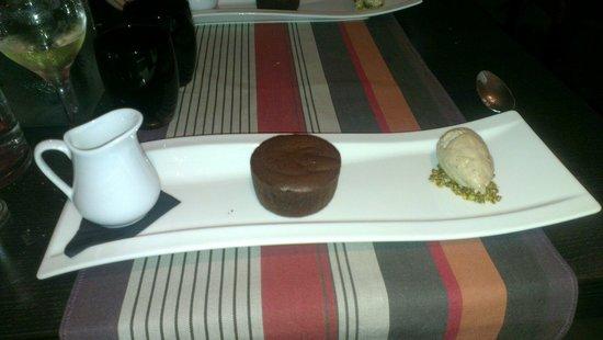 Le 17 : Le fondant au chocolat praliné