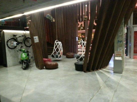 Generator Hostel Barcelona: sitting area next to the reception desk