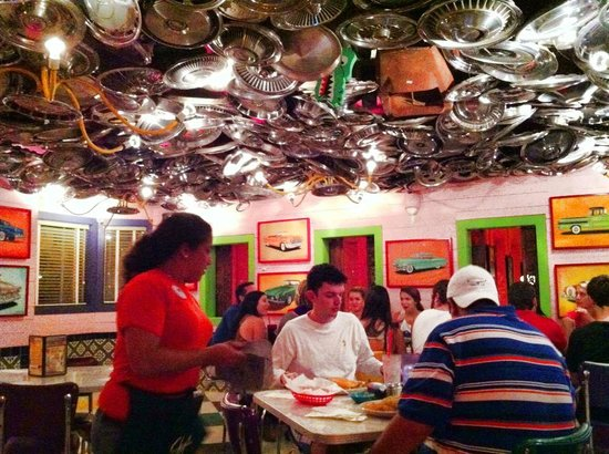 Chuy's: Hubcap ceiling was kind of cool...