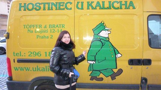 Hostinec U Kalicha: возле ресторана
