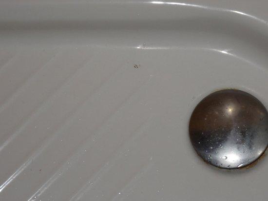 Lachtalhaus: Zeichen der Vormieter in der Dusche