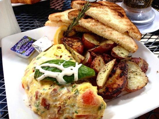 The Crema Cafe: Seal beach omelet!! And I like it :) Just a little big for me though....