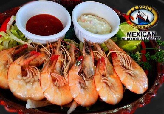Langosteria Maya Restaurant : Fresh Shrimp garlic Sauce