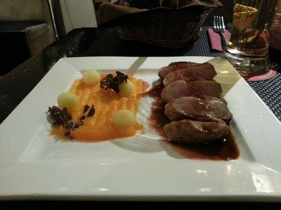Hanza Hotel: Duck dinner