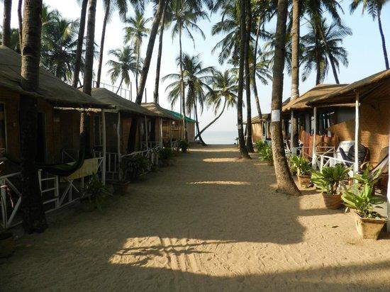 The Nest: Row of beach huts