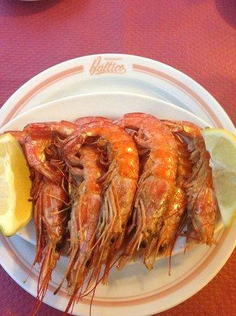 Hotel Baltico: Shrimp at the Hotel Restaurant