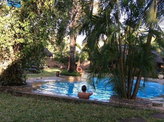 Diani Marine Divers Village: Espace piscine aérer
