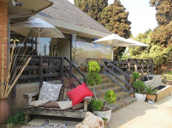 Sunrock Guesthouse: Vue sur la salle du petit-déjeuner