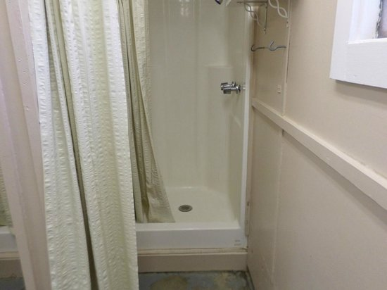 Elvis Presley Lake and Campground: Step-up showers.