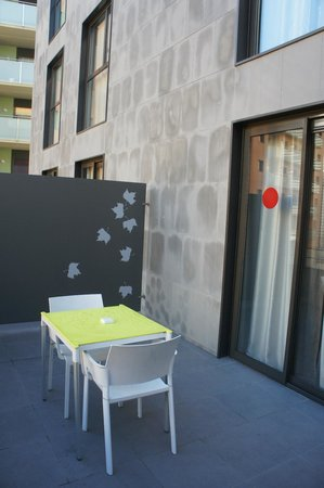 Double Tree Hilton  Hotel Girona: la terrasse