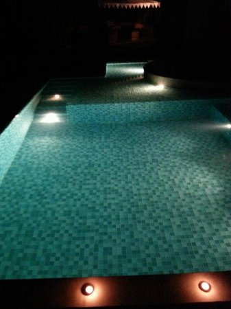 Tree of Life Resort & Spa Jaipur : Night view of in house pool in villa