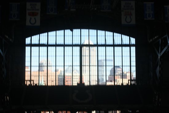 Lucas Oil Stadium : View of Indy from Stadium window