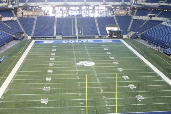 Lucas Oil Stadium : View of the field from the Party Zone