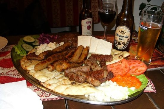 National Restaurant Cevabdzinica Tima - Irma: huge dish for two