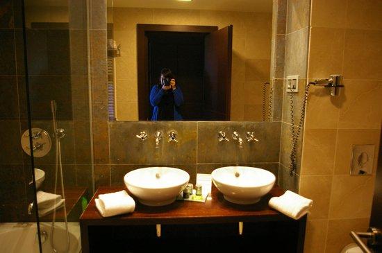 Hotel Mas Solà: Lavabo