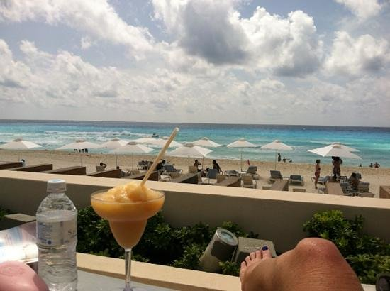 Secrets The Vine Cancun: view from fav spot at pool