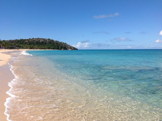 Galley Bay Resort: Crystal clear caribbean blue water, silky soft sand!