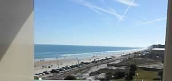 Beach at Daytona Beach: View from balcony of an ocean front resort room