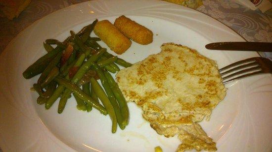Albergo Giardino: paillarde con cornetti, pancetta e crocchette di patate