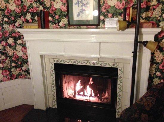 White Swan Inn: Estupenda chimenea en la habitación