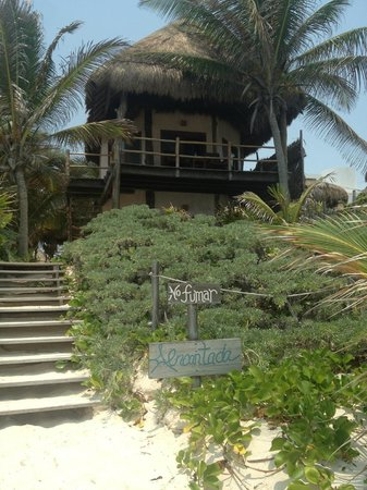 Encantada Tulum: View of our room (top floor) from the beach