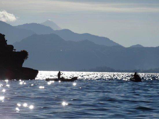 Lomas de Tzununa: View form the boat landing