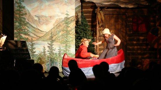 Oh Canada Eh? Dinner Show: Canoe scene