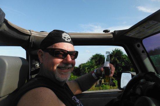Pantera Tour: Cerveza while you drive!  Yep!