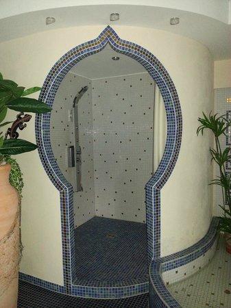 Hochkopfhaus zum Auerhahn: Dusche im Wellnessbereich