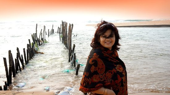 Puri - Golden Sands, A Sterling Holidays Resort : River & Sea meeting point very close to the resort