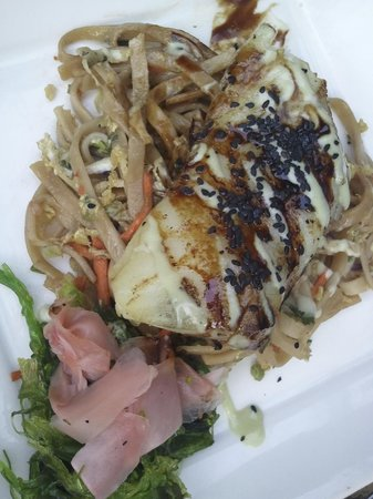 Red Fish: fish of the day with seaweed salad, wonderful