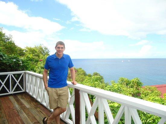Ti Kaye Resort & Spa: patio near the main restaurant, amazing views