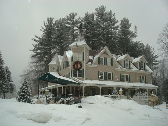 The Bernerhof Inn Bed and Breakfast on a snowy January day