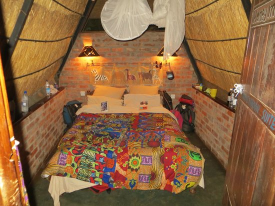 Jollyboys International Backpackers: Double room/hut