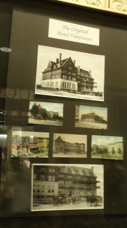Fairmont Hotel Vancouver: Old photos of the hotel's early day in the lobby