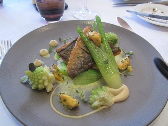 Bybrook Restaurant - Manor House Hotel: artistic sea bream
