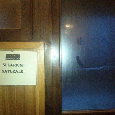 "Sport Hotel Forte: ""Natural Solarium"" - go outside in freezing rain"