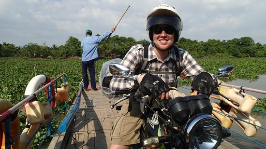 Da Lat, Vietnam: Crossing a river with a local ferry