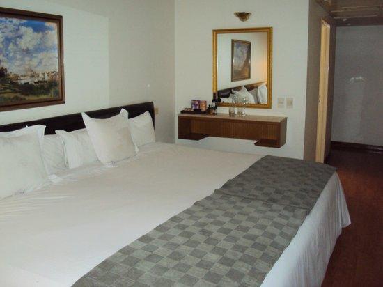 Este é o quarto no qual  me hospedei no hotel Dolmen. Muito confortável.