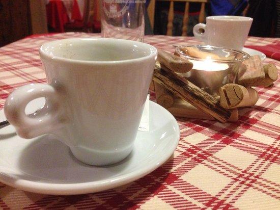 Ristorante El Resole': Heerlijke espresso !