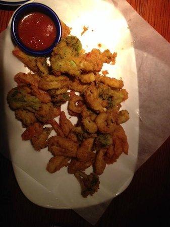 Red Lobster: Fried Calamari and veggies