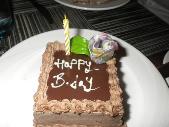 Vilamendhoo Island Resort & Spa: Birthday