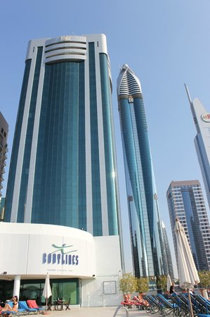 Hotel viewed from by the pool - Picture of Towers Rotana ...